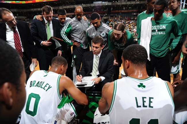 Brad Stevens's philosophy on loose balls is: Floor it!